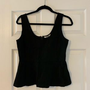 BB Dakota Black Peplum Shirt